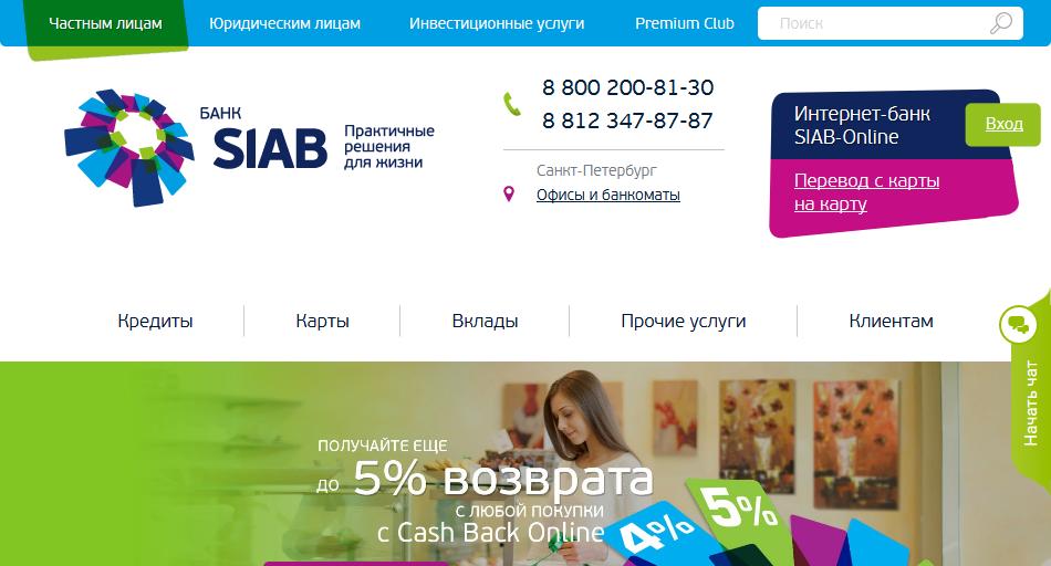 Главная страница официального сайта СИАБа