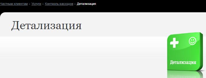 Услуга детализация на сайте Теле2