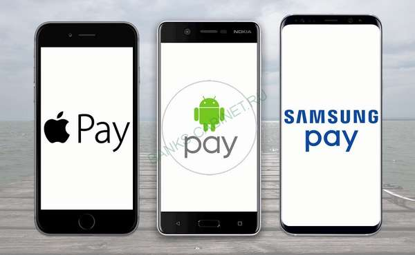Рокетбанк Apple Pay, Samsung Pay, Android Pay