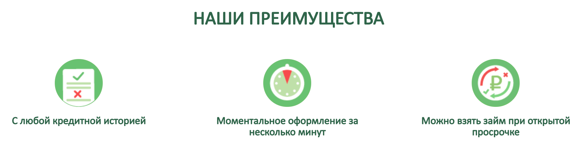 Преимущества компании Доброзайм (Центр Займов)
